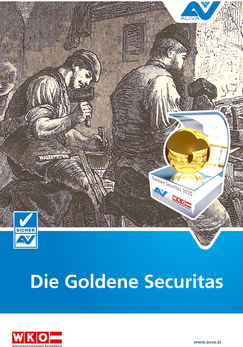 "Titelbild des Folders ""Goldene Securitas 2020"""